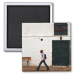 Walking 2 Inch Square Magnet