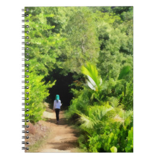 Walking a lonely path spiral notebook