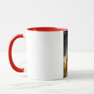 walking across a dark forest Mug
