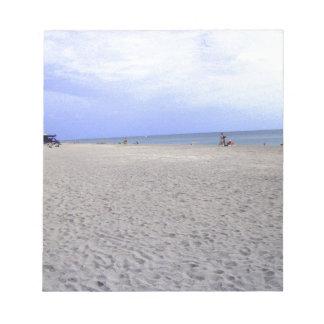 Walking Along Siesta Keys Beach Note Pad
