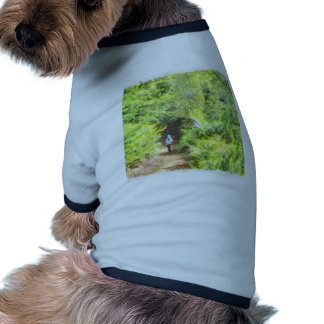 Walking along the greenery pet t shirt