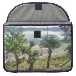 Walking along the lake MacBook pro sleeve