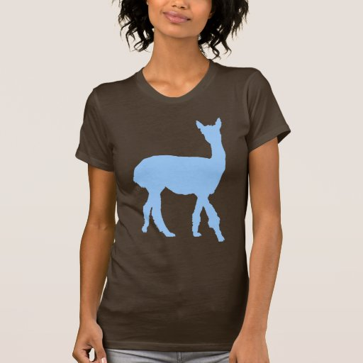 Walking Alpaca (in blue) Shirt