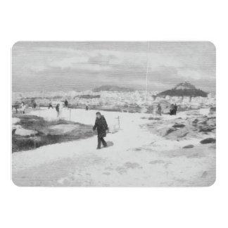 Walking among snow and ice card