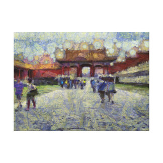 Walking around the Forbidden City Canvas Print