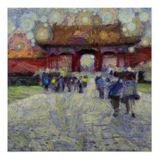 Walking around the Forbidden City Poster