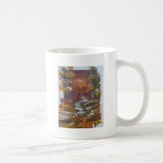 Walking At Autumn Coffee Mug