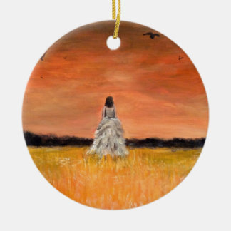 Walking Away with Dignity Ceramic Ornament