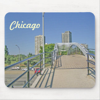Walking Back to Chicago from the Beach Mousepad