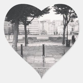 Walking back to the office heart sticker