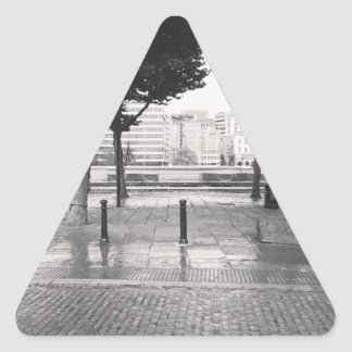 Walking back to the office triangle sticker