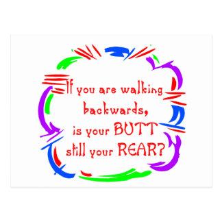 Walking Backward Postcard