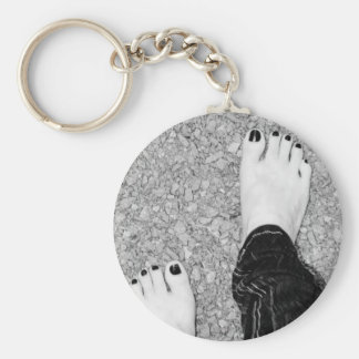 Walking Barefoot Keychain