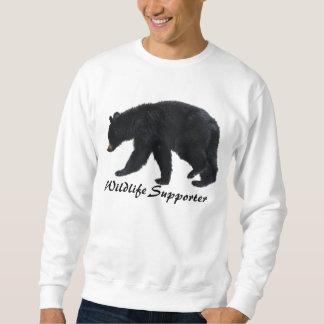 Walking Black Bear Animal Lover Apparel Sweatshirt