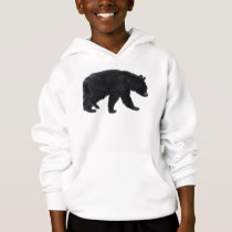 Walking Black Bear Animal Lover Hoodie
