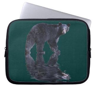 Walking Black Bear Wildlife Art Laptop Sleeve