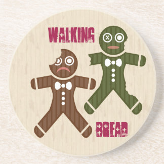 Walking Bread Beverage Coasters
