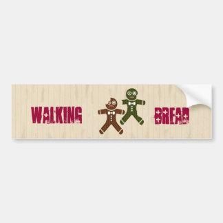 Walking Bread Car Bumper Sticker