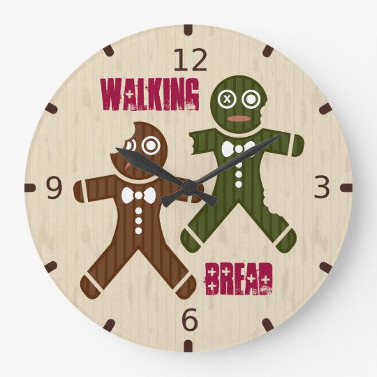 Walking Bread Large Clock