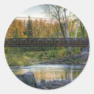 Walking Bridge Classic Round Sticker