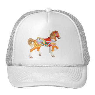 .Walking Brightly Painted Carousel Pony Trucker Hat