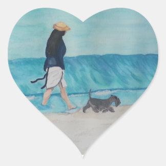 Walking Buddies Heart Sticker
