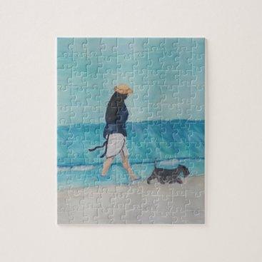 Beach Themed Walking Buddies Jigsaw Puzzle