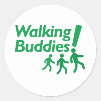 WALKING BUDDIES Motivation to Walk Classic Round Sticker