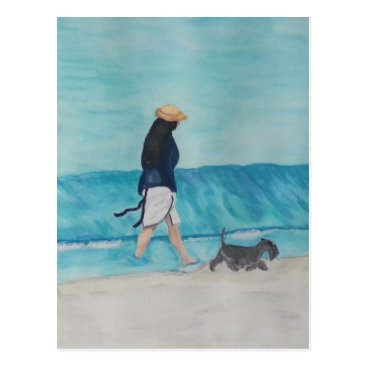 Beach Themed Walking Buddies Postcard