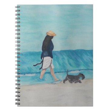 Beach Themed Walking Buddies Spiral Notebook
