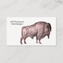 Walking Buffalo Park Ranger Wildlife Management Business Card