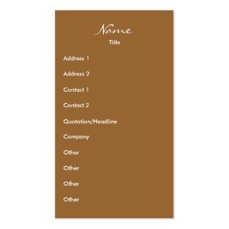 Walking Business Card Templates