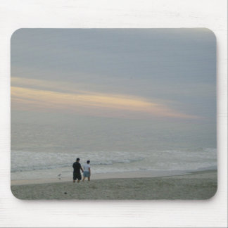 Walking by the Seaside Mouse Pad