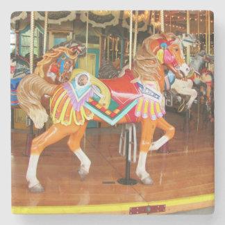 Walking Carousel Horse Stone Coaster