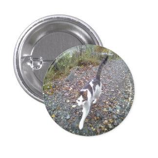 Walking Cat 1 Inch Round Button