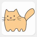 Walking Cat Square Sticker
