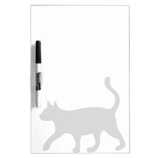 Walking cat with long tail dry erase board