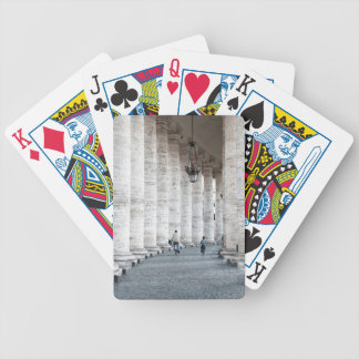 walking cycling bicycle playing cards