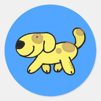 Walking dog classic round sticker