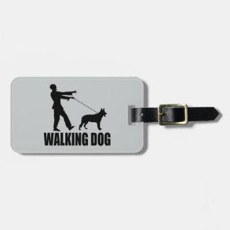 Walking Dog Luggage Tag