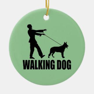 Walking Dog (zombies) Christmas Ornament