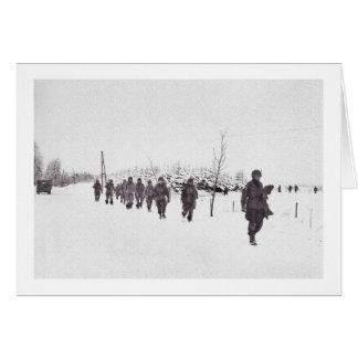 Walking Down Bastogne Road Card