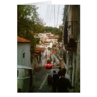 Walking down the mountain side in Taxco Card