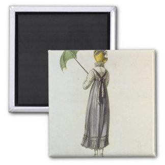 Walking Dress, 1814 2 Inch Square Magnet