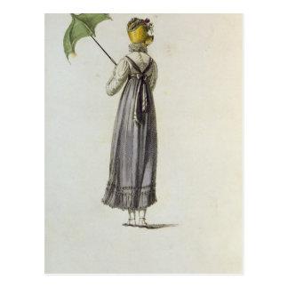 Walking Dress, 1814 Postcard