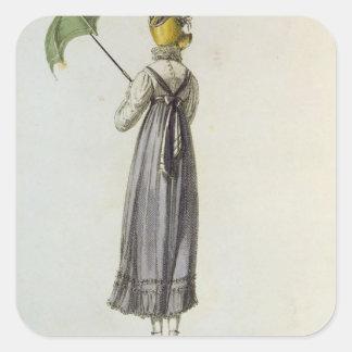 Walking Dress, 1814 Square Sticker