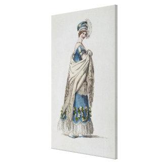Walking dress, fashion plate from Ackermann's Repo Canvas Print