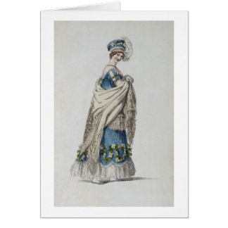 Walking dress, fashion plate from Ackermann's Repo Greeting Card