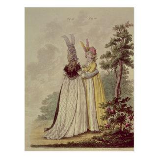 Walking dresses from N. Heideloff's Postcard