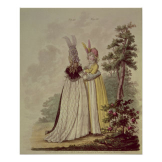 Walking dresses from N. Heideloff's Posters
